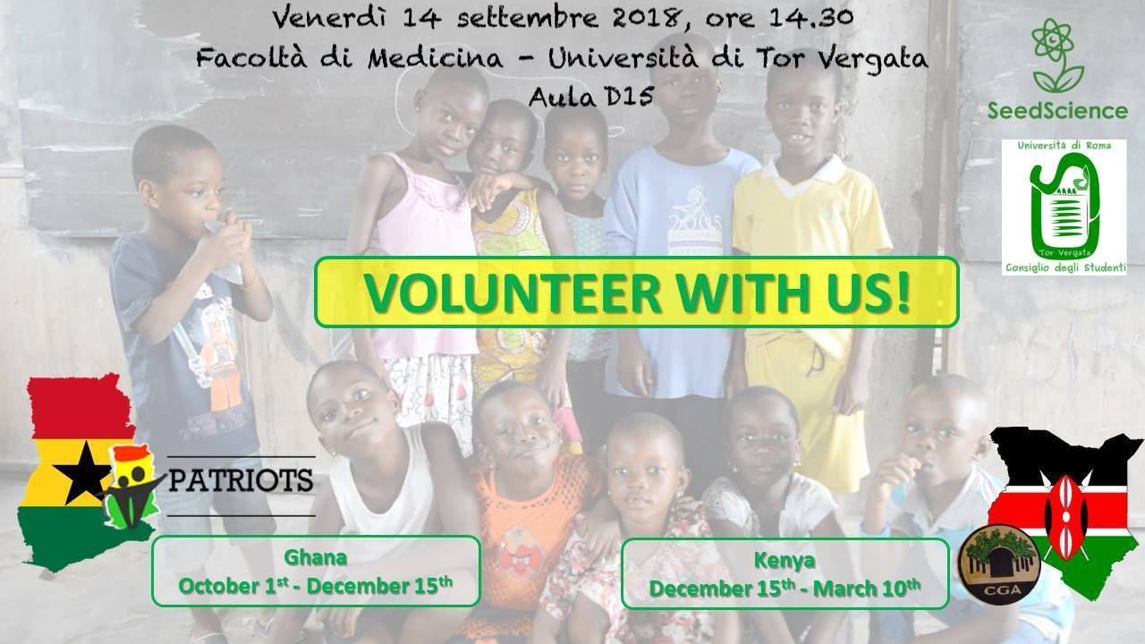 Volunteering info – presentation at the University of Rome Tor Vergata