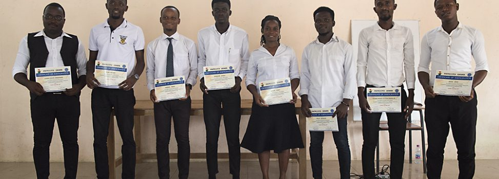 Our final training ceremony in Ghana!